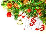 Festive musical still life