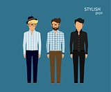 Three stylish guys