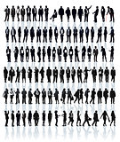 Businesspeople silhouettes