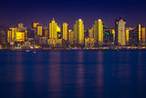 Glowing San Diego Skyline