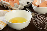 Natural brown eggs