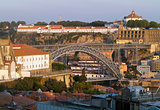 North side of Douro and Maria Pia bridge of Porto
