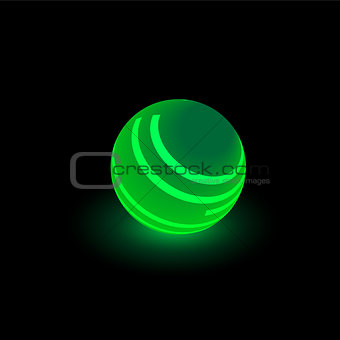 Green luminous ball
