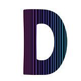 neon letter D