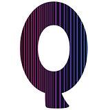 neon letter Q