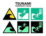 Tsunami evacuation signs