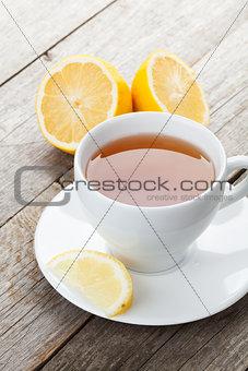 Green tea with lemon