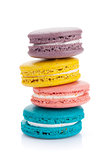 Colorful macaron cookies