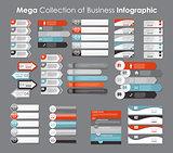Collection of Infographic Templates for Business Vector Illustration.