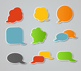 Speech Bubbles Stickers Vector Illustration