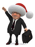 3d business gentleman Santa