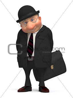 3d business gentleman