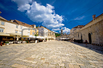 Central Pjaca square of Hvar town