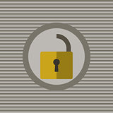 Unclassified the lock flat icon