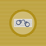 Cyber crime flat icon