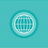 Globe earth flat icon