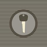 Key flat icon