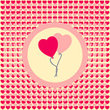 Love ballons for Valentine's Day