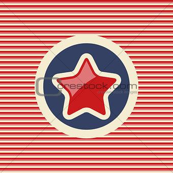American star flat icon