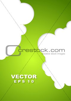 Abstract green corporate design