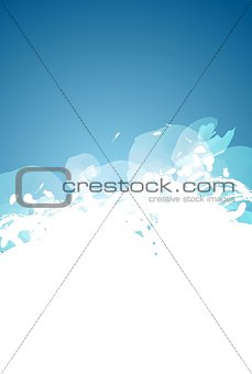Abstract grunge blue and white background