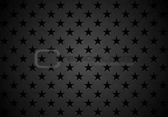 Black stars abstract vector background