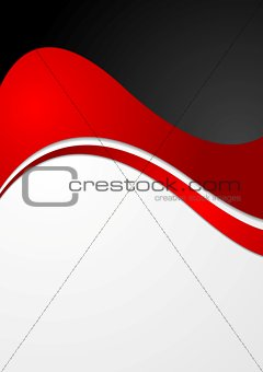 Abstract contrast wavy modern background