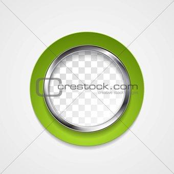Corporate metal circle for web design