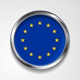 European union metal button flag