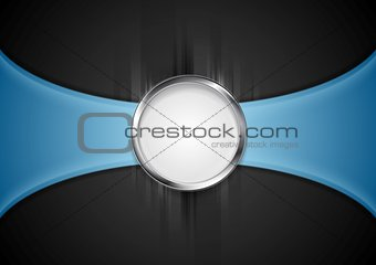 Abstract background with silver circle shape