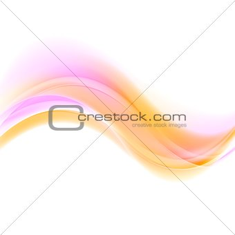 Abstract pink and orange futuristic waves