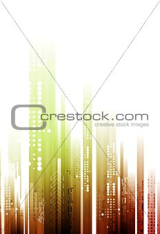 Abstract bright tech geometry background