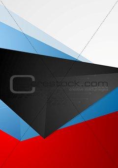 Abstract tech flyer vector design