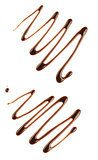 Chocolate syrup isolated on white with clipping path included