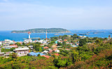 Aerial view of Sichang Island ,Chonburi ,Thailand.