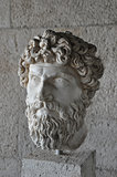 head of bearded man statue