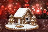 homenade holiday Gingerbread house
