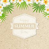 Sand Background With Frangipani
