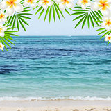 Summer Time Poster With Frangipani