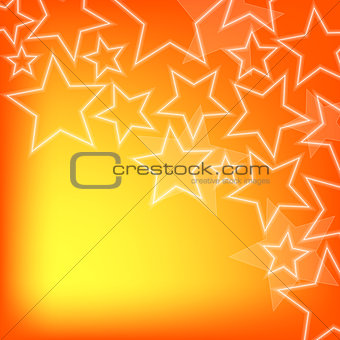 Abstract glowing stars colorful background