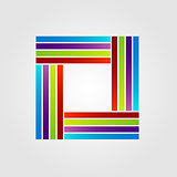 square corporate logo in different colors
