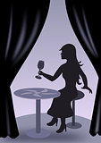 Girl with Wine Glass
