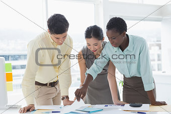 Business team working together at a meeting