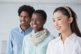 Creative team smiling together