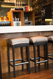 Close up of several bar stool