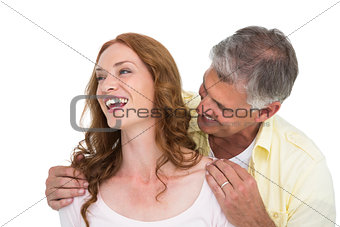 Casual couple laughing together