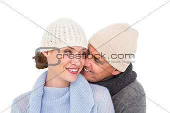Casual couple in warm clothing
