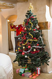 Christmas tree with many gifts