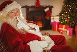 Santa claus keeping a secret