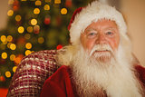 Portrait of smiling santa claus
